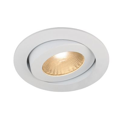 Rock 11W LED - Recessed 11W LED COB tilt 18° dimmable downlight. IC rated, (COB) - multiple LED chips are packaged together as one lighting module, eliminating traditional dots of LED