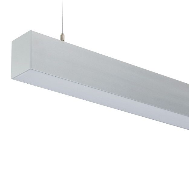 LP Direct - Extruded aluminium suspended beam lighting system -  Compact and streamlined design in a 60mm channel. Integral ballast/driver, high impact acrylic lens or . continuous row mounting for seamless light look. Fluorescent or LED lamping options.