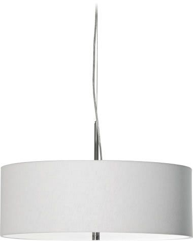 Candice 500 - 3 light fabric drum shade with opal acrylic diffuser
