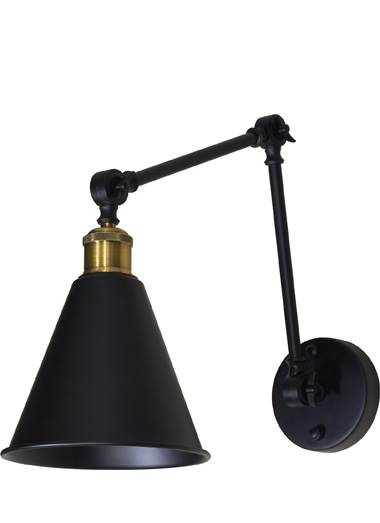 Roxbury - Industrial metal wall light with adjustable arms