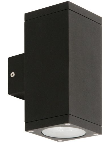 kube 2 exterior rated corrosion resistant fixed up down wall light