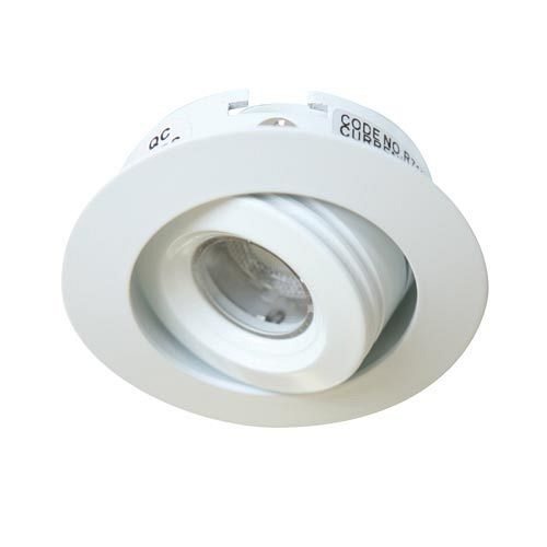 LED R711 - Shallow LED recessed downlight 60° beam and tilt
